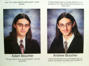 funny yearbook quotes evil twin metal
