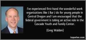 ve experienced first-hand the wonderful work organizations like J ...