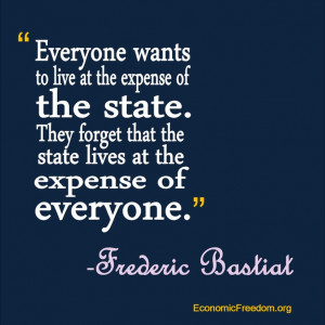 Bastiat quote.