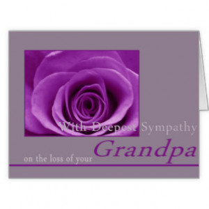 Sympathy On Loss Of Grandfather Cards & More