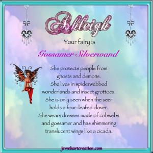 Ashleigh Fairy Name