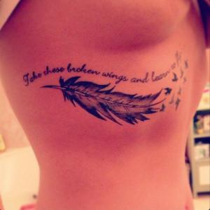 Underboob Tattoo Quote...