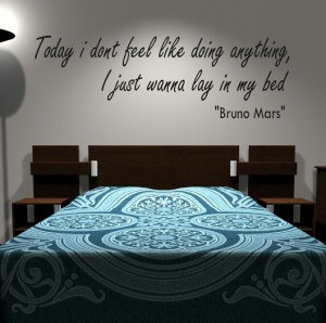 Bruno Mars quote wall sticker