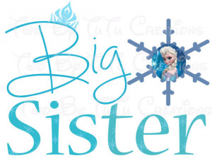 Frozen Anna Elsa Big Sister Printable Image for Iron On Transfer DIY ...