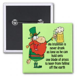 Leprechaun Blade of Grass Pinback Buttons