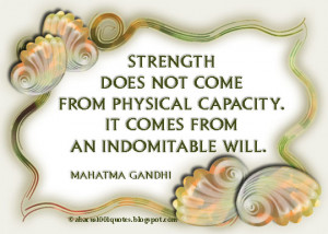 Mahatma Gandhi's Inspirational Quote about Strength