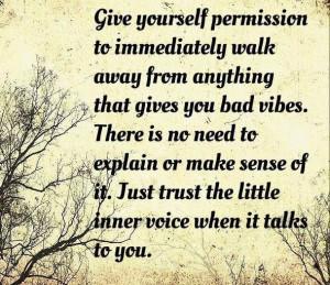 Listen to your inner voice quote via www.Facebook.com/PsychopathFree