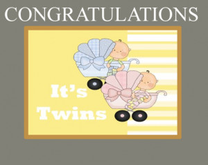 Originally the request was for gray and yellow. The twins are a boy ...