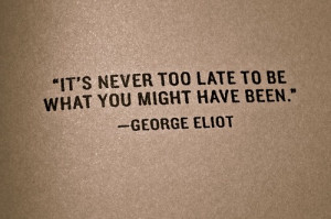 ... George Eliot so that her work would be taken seriously. I find her
