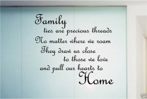 FAMILY POEM QUOTE STICKER WALL ART BEDROOM KITCHEN | eBay