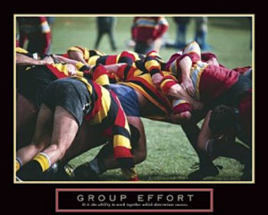 Rugby Group Effort Poster 20x16