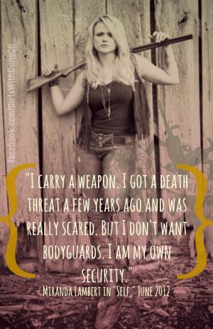 Miranda Lambert, gun rights, concealed carry, girls with guns, ladies ...
