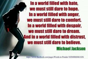 Michael Jackson quote. Quotes