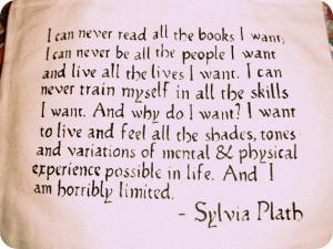 Sylvia Plath Vintage Typewriter Quote Tote Bag/Purse