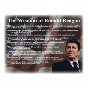 Ronald Reagan Famous Quotes Art Print