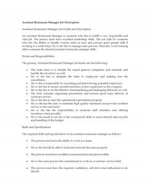 Job Description Retail Manager