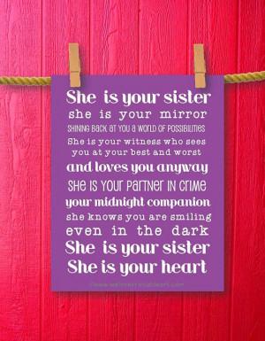 Sister Gift Teen Room Decor Girl Room by WeLovePrintableArt