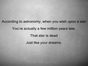 dead, dream, quote, star, text, wish