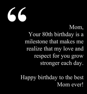 Quotes For 80th Birthday Party ~ 80th Birthday Wishes & Messages for ...