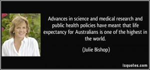 Advances in science and medical research and public health policies ...