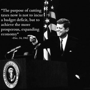 Purpose of cutting taxes is..