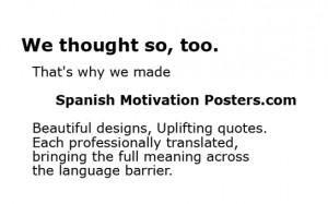 Spanish Motivation Posters