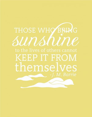 Sunshine Inspirational Quote Print Typography by FlourishCafe