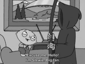 dead, death, family guy, quote, stewie