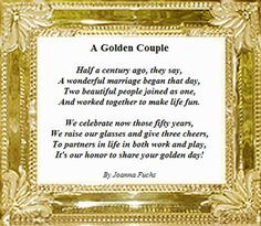 ... wedding anniversary more 50th wedding anniversary couple poems toast