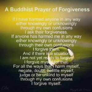 Buddha prayer of forgiveness