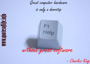 ... technology picture quote2 Great computer hardware is only a doorstop
