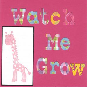 Watch Me Grow Baby Gift