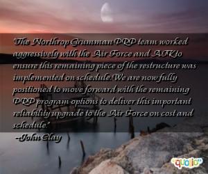 The Northrop Grumman PRP team worked aggressively