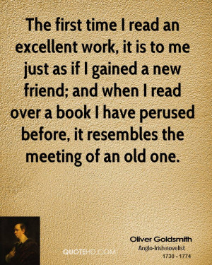 The first time I read an excellent work, it is to me just as if I ...