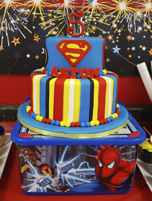 Real Party} Superhero Birthday – Aston's Amazing Day