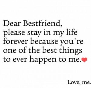 Dear Best Friend Picture