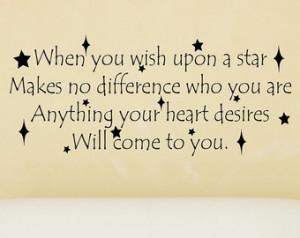 When You Wish Upon A Star Disney De cal - Disney Quote Decal - Vinyl ...
