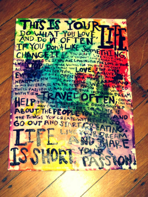 Melted Crayon Inspirational Quote