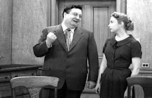 ... Jackie Gleason in his role of blustery bus driver Ralph Kramden on the