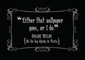 Delightfully Dark Quotes: Oscar Wilde