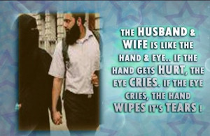 The husband & wife is like the hand & eye.. If the hand gets hurt, the ...
