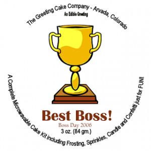 Best Boss Trophy Card