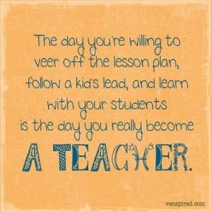Yep - I love being a teacher!