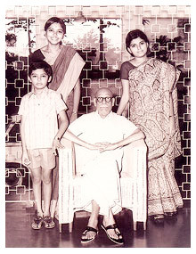nooyi with her grandfather sister and brother indra nooyi spent