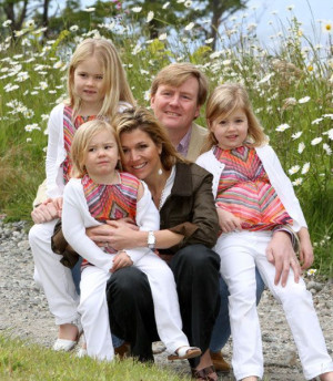 Prince Willem-Alexander of Orange, Princess Maxima,Princess Catherina ...