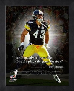 troy polamalu pittsburgh steelers pro quotes framed 8x10 photo $ 14 99 ...
