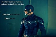 Captain America Winter Soldier quote- because Joss Whedon make subtle ...