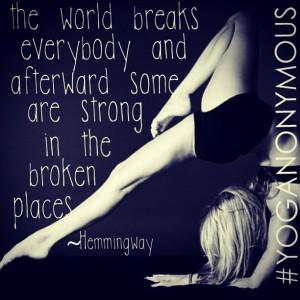 Beautiful yoga & quote. #yoganonymous