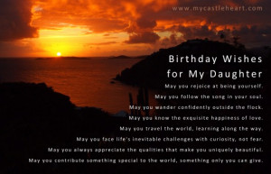 Birthday Quotes For Daughter From Mother: Birthday Wishes For A ...