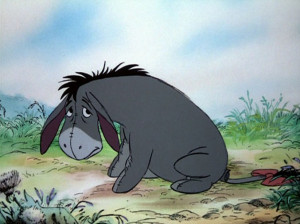 ... brewing in Eeyore's mind. You can just tell. Look at that face